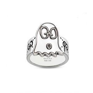 New Authentic GUCCI GHOST GG Sterling Silver Ring
